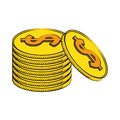 Coins currency money stack
