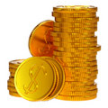 Coins dollars money Royalty Free Stock Images