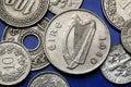 Coins of Ireland Royalty Free Stock Photo