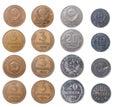 Coins.isolated russo Fotografie Stock Libere da Diritti