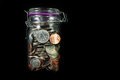 Coins In A Mason Jar