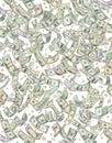 Coins regna för pengar för dollar fallande Royaltyfri Foto