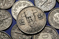 Coins of South Korea Royalty Free Stock Photo