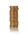 Coins stacks on white Royalty Free Stock Photo