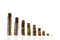 Coins statistic stand money saving become rich Stock Photos