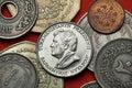 Coins of Turkmenistan. Turkmen president Saparmurat Niyazov Royalty Free Stock Photo