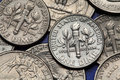 Coins of USA. US dime Royalty Free Stock Photo
