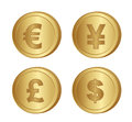 Coins vector Stock Photo