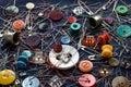 Coisas pequenas Sewing Imagens de Stock