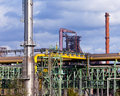 Coking plant producing coke coal for steel making Royalty Free Stock Photography