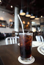 Cola in close up in restaurant Royalty Free Stock Photo