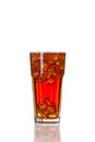 Cola drink in glass, isolated on white background Royalty Free Stock Photo