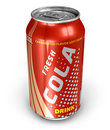 Cola drink in metal can Royalty Free Stock Photos