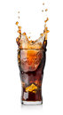 Cola drink with splash Royalty Free Stock Photo