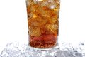 Cola a glass of with ice cubes Stock Photography