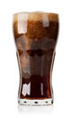 Cola with ice cubes isolated Royalty Free Stock Photo