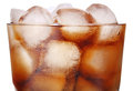 Cola with ice in glass Stock Photography