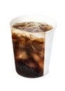 Cola in paper cup isolate