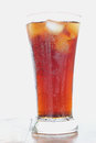 Cola soft drinks glass ice cold Stock Image