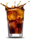 Cola splash Royalty Free Stock Photo