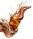 Cola splash isolated Royalty Free Stock Photo