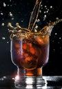 Cola splash Royalty Free Stock Photo