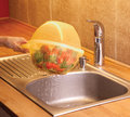 Colander with bowl Stock Image