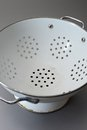 Colander a close up shot of a draining Stock Photography