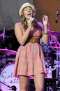 Colbie Caillat performing live. Royalty Free Stock Image