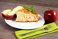 Cold apple pie on the table with Royalty Free Stock Image