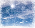 Cold background frame Royalty Free Stock Photo
