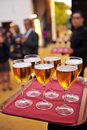 Cold beer, bartender, catering service Royalty Free Stock Photo