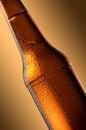 Cold beer bottle. Fresh beer bottle concept. Royalty Free Stock Photo