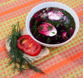 Cold beetroot soup Royalty Free Stock Images