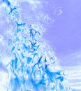 Cold Blue Flame Royalty Free Stock Photo