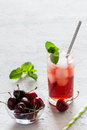 Cold cherry coctail