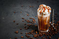 Cold coffee drink frappe frappuccino Royalty Free Stock Photo