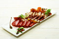 Cold cuts or meat platter Royalty Free Stock Photo