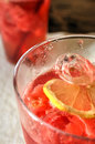 Cold drink with melon ice and lemon photo Royalty Free Stock Photos
