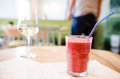 Cold drink refreshing at restaurant Royalty Free Stock Photos
