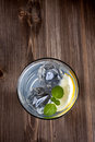 Cold drink on a wood background Royalty Free Stock Photos