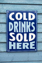 Cold drinks sign a advertising for sale Royalty Free Stock Photography