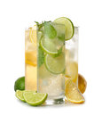Cold drinks various on white background Stock Photo