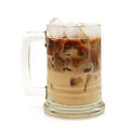 Cold fresh ice coffee with chocolate close up Royalty Free Stock Photos