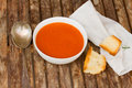 Cold gazpacho spanish traditional tomato soup Stock Photo