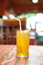 Cold lemon tea in glass Royalty Free Stock Photography