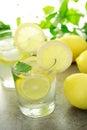 Cold lemon water Royalty Free Stock Photo