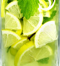 Cold lemonade in a glass Royalty Free Stock Images