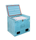 Cold logistic box insulated for food transport isolated Royalty Free Stock Image
