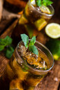 Cold Longdrink (Cuba Libre) Royalty Free Stock Photo